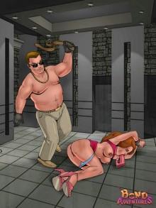 Hot fucking in bdsm comics Bond Adventures Rope bondage