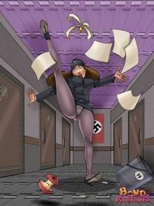 Nazi bitch in bdsm scene - Femdom Comics