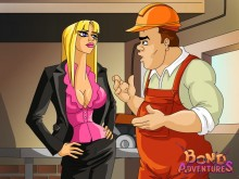 Business girl for BDSM - Bond Adventures
