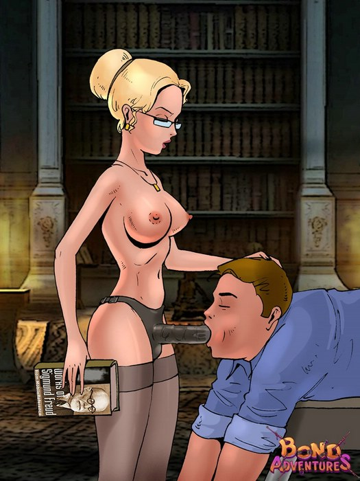 Bossy librarian action - Bond Adventures Femdom Comics
